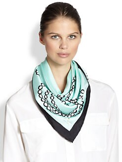 Kate Spade New York - Trompe L'Oeil Silk Scarf