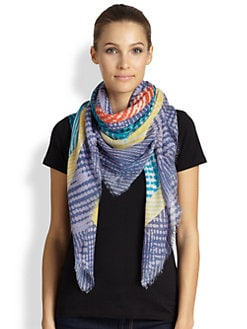 Marc by Marc Jacobs - Dotted-Crosshatch Woven Scarf