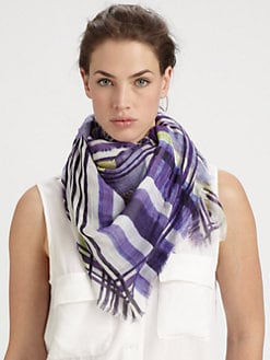 Cut 25 by Yigal Azrouel - Mixed Stripes Modal & Cashmere Scarf