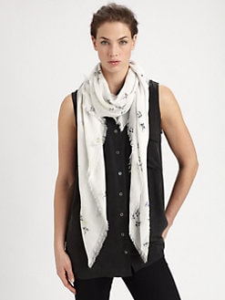 Cut 25 by Yigal Azrouel - Bird Cluster Modal & Cashmere Scarf