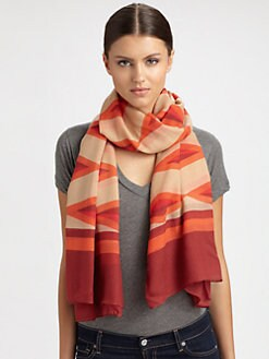 Marc by Marc Jacobs - Hayley Stripe Wool Scarf