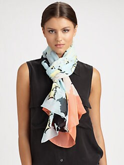 Diane von Furstenberg - Washed Silk Chiffon Scarf