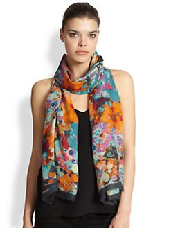 Bindya - Coin Abstract Silk Scarf