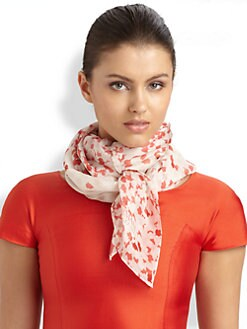 Armani Collezioni - Petal Print Silk Scarf