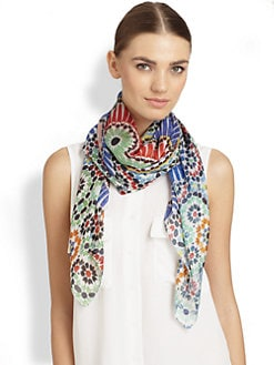 Bindya - Mad About Her Silk Woven Scarf