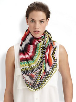 Peter Pilotto - Damask Stripe Silk Scarf