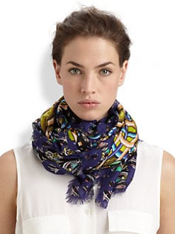 Peter Pilotto - Printed Modal & Cashmere Scarf