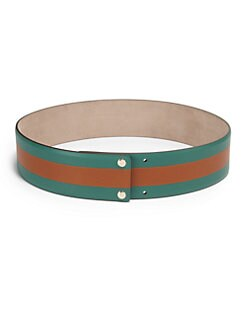 Gucci - Wide Two-Tone Leather Belt