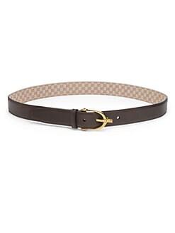 Gucci - Leather Stirrup-Buckle Belt
