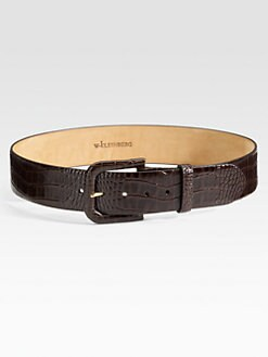 W. Kleinberg - Crocodile-Embossed Belt