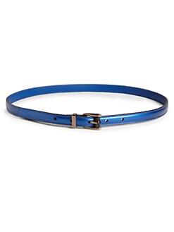 Gucci - Adjustable Skinny Metallic Leather Belt