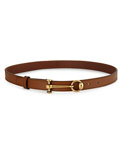 Gucci - Leather Horsebit Belt