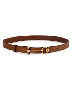 Gucci - Leather Horsebit Belt