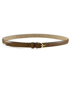 Gucci - Skinny Leather Spur Buckle Belt