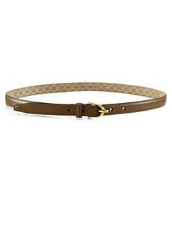 Gucci - Skinny Leather Spur Buckle Belt