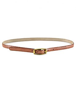 Gucci - Metallic Lizard Skinny Belt