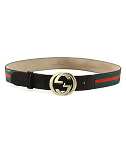 Gucci - Signature Web Interlocking GG Buckle Belt