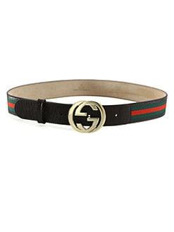 Gucci - Signature Web Interlocking GG Buckle Belt