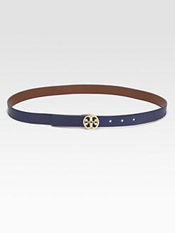 Tory Burch - Classic Logo Leather Belt