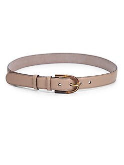 Gucci - Bamboo Buckle Leather Belt