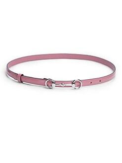 Gucci - Horsebit Patent Leather Belt