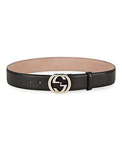 Gucci - Interlocking G Leather Belt <br>