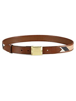 Burberry - Henley Check Leather Belt