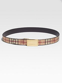 Burberry - Springfield Haymarket Check Leather Belt