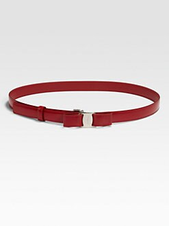 Salvatore Ferragamo - Miss Vara Patent Leather and Brass Belt