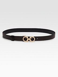 Salvatore Ferragamo - Leather Belt/Mocha