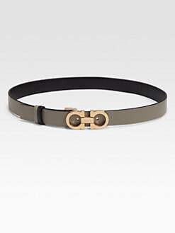 Salvatore Ferragamo - Leather Belt/Grey