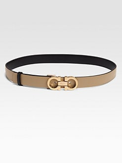 Salvatore Ferragamo - Leather Belt/Beige