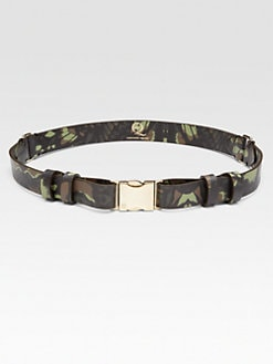 McQ Alexander McQueen - Leather Camouflage Belt