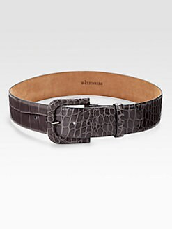 W. Kleinberg - Embossed Croc-Print Leather Belt