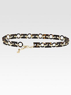 Tory Burch - Chain-Linked Resin Belt