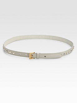 Prada - Saffiano Vernice Studded Leather Belt