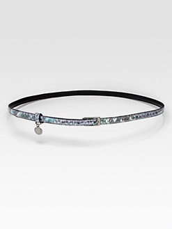 Stella McCartney - Metallic Faux Snakeskin Belt
