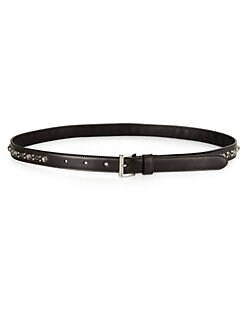 Prada - Cinture Studded Leather Belt