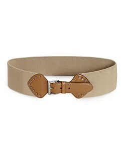 Prada - Cinture Canvas/Leather Belt