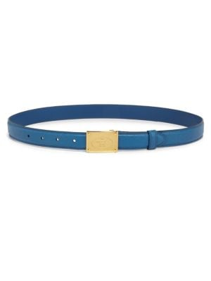 Skinny Saffiano Leather Belt