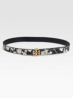Tory Burch - Reversible Printed Leather Belt