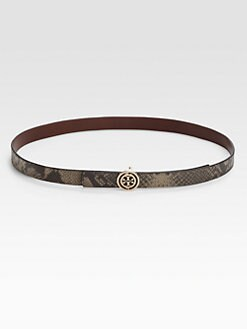 Tory Burch - Reversible Snake Print Belt