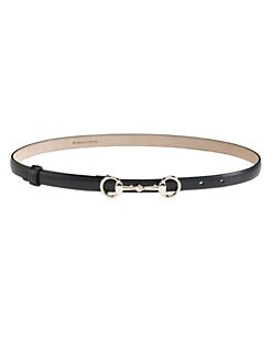 Gucci - Leather Horsebit Buckle Belt