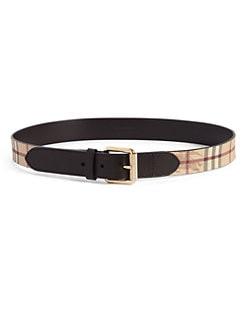 Burberry - Haymarket Check Leather Belt