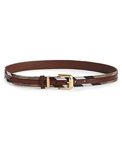 Burberry - Striped Check Belt
