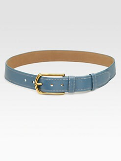 Prada - Pebbled Leather Belt/Narrow