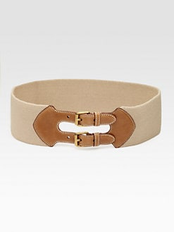 Prada - Leather Accented Elastic Belt