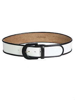 W. Kleinberg - Contrast Leather Belt