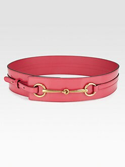 Gucci - Patent Leather Horsebit Belt