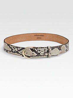 W. Kleinberg - Python-Embossed Leather Belt